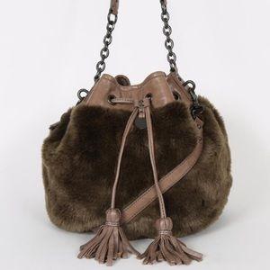 Juicy Couture Brown Fur Bag